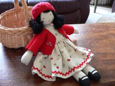 Hand-made cloth doll (12 inches)