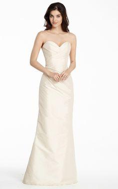 5e5dd4882b7e Satin Sleeveless Sheath Floor-length Natural Bridesmaid Dresses Jim Hjelm  Occasions