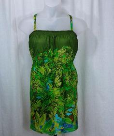 161518 Lane Bryant Tropical Print Babydoll Cami Size 18/20
