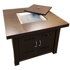 AZ Patio Heaters – Square Top Gas Fire Pit with Lid
