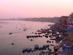 #Sunset over the #ganges in #varanasi  AMAZING!  #incredibleindia