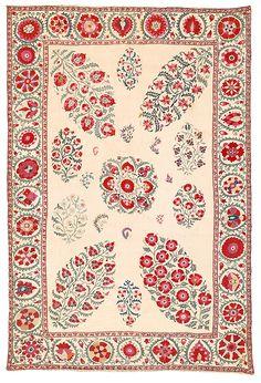 Nurata suzani, Uzbekistan, mid-19th century. Estimate €8,500