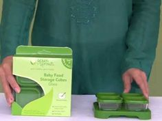 Do you make your own baby food? green sprouts Baby Food Storage Cubes are specially made to store perfect portions for later or on the Baby Food Storage, Perfect Portions, Plastic Ware, Storage Cubes, Baby Must Haves, New Baby Boys, Baby Food Recipes, Sprouts, Make Your Own