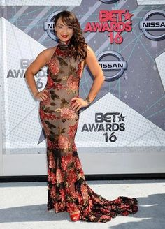 Mayte Garcia working the red carpet at the BET Awards 2016 (Prince Tribute)