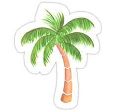 Palm tree original watercolor • Also buy this artwork on stickers, apparel, phone cases, and more.