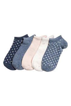 5-pack trainer socks - Blue/Spotted - Ladies | H&M GB 1