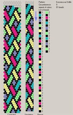 9 around - 81 pattern. Free pattern for beaded crochet rope Mallow Peyote Stitch Patterns, Bead Crochet Patterns, Beading Patterns Free, Seed Bead Patterns, Bead Crochet Rope, Beaded Crochet, Free Pattern, Crochet Diagram, Beading Tutorials