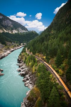 Under the Blue Sky and White Clouds, Fraser Canyon in British Columbia