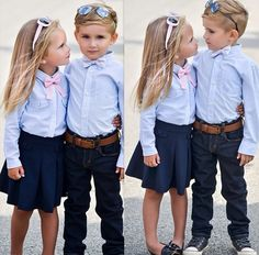Matching brother and sister outfit