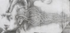 Appearance, 2013 Pencil drawing on parchment paper, 70 x 70 cm