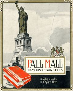 cigarette Pall Mall advertising
