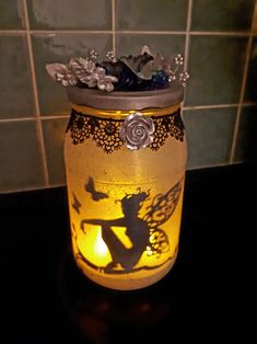 Fairy luminary jar.