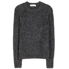Valentino Mohair-Blend Sweater (6.840 ARS) ❤ liked on Polyvore featuring tops, sweaters, shirts, jumpers, grey, shirt top, valentino sweaters, gray top, valentino shirt and grey jumper