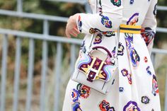 42 Must-Have Bags Seen At New York Fashion Week #refinery29  http://www.refinery29.com/2015/09/94190/cute-handbags-fashion-week-street-style#slide-33  Stars, colors, shapes: How much pizzazz can one little bag have?Paula Cademartori bag....