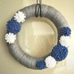 Felt Flowers Tutorial:  Want to make this wreath