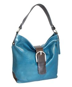 Love this Blue Miss Muffet Leather Hobo on #zulily! #zulilyfinds