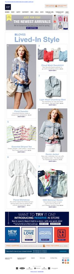 The Gap Spring Email
