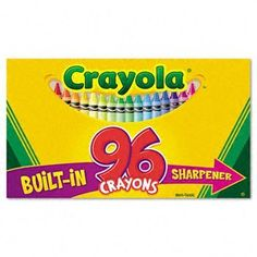 Classic Color Pack Crayons, 96 Colors/Box by Crayola. $36.95. Vibrant, classic crayons. Robust color assortment of true hues and intense brightness in primary and secondary colors. Double wrapped for extra strength and durability. Non-washable. Color(s): 96 Assorted; Assortment: N/A; Crayon Size: 3 5/8 x 5/16 in; Size Group: Standard.