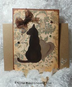 Pet Sympathy card for loss of cat brown tan and by TheRescueMama, $9.99