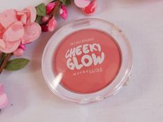 The font Culia being used in Maybelline's Cheeky Glow Blush!