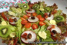 Salada de Alface Roxa » Receitas Saudáveis, Saladas » Guloso e Saudável