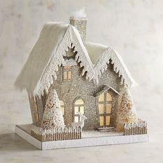 Diy Christmas Gifts For Friends, Diy Christmas Village, Retro Christmas Decorations, Christmas Gingerbread House, Christmas Fireplace, Christmas Tree Toppers, Christmas Home, Christmas Crafts, Christmas Ornaments