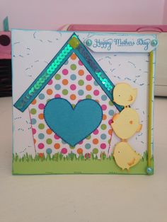 Cricut-Create A Critter and Stretch your Imagination.  Mother's Day Card