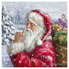 Santa Claus, St. Nick, Father Time, Kris Kringle #Santa ~~  Marcello Corti - XM1792.jpg