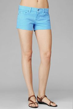 7 For All Mankind neon blue shorts.