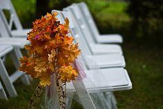 Fall Weddings Outside   Fall Outdoor Wedding Pew Decorations Fall Wedding Decoration Ideas