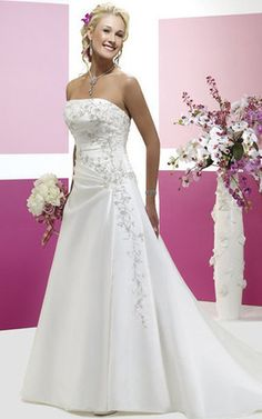 Cheap wedding dress, Buy Quality train wedding dress directly from China wedding dress 2017 Suppliers: Custom Made A-line strapless sequin embroidery beads chapel train wedding dresses 2017 Wholesale Wedding Dresses, Bridal Dresses Online, Affordable Wedding Dresses, Bridal Wedding Dresses, White Wedding Dresses, Cheap Wedding Dress, Ivory Wedding, Dress Online, Wedding Girl