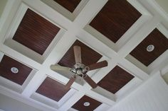 ceiling treatments   When I built this ceiling, I was able to use the contrast between wood ...