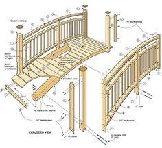 Building a simple bridge for the backyard Garden Yard Ideas