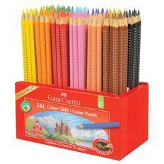 Faber Castell Caddie 144 Colour Grip Colour Pencils Cores Lapis De Cor Canetas