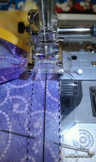 Smilie Mommy Quilts: Awesome Tool for a perfect 1/4 inch seam and no-mark-no-paper half-square triangles