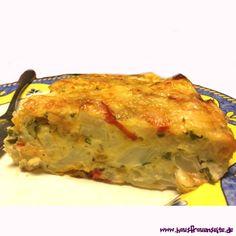 Blumenkohlkuchen - Rezept  Ardos Rezept für einen pikanten Blumenkohlkuchen Man kann ihn auch vegetarisch zubereiten!
