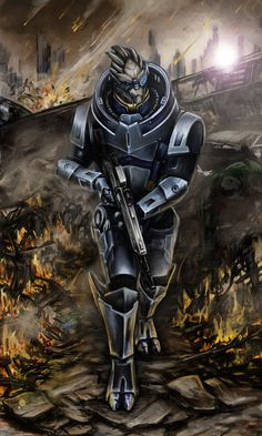 Garrus Vakarian is made of awesome.