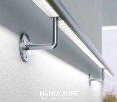 1,00m V4A LED Edelstahl Handlauf, rund, geschliffen VA Treppenhandlauf in Business & Industrie, Baugewerbe, Baustoffe & Bauelemente | eBay