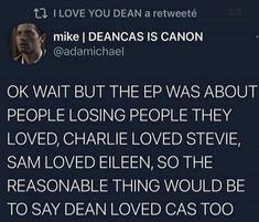 Supernatural Finale, Supernatural Destiel, Castiel, Losing People, Cockles, Movie Lines, Make You Cry, Super Natural, Feeling Sad