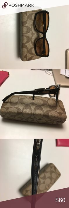 Coach Chelsea sunglasses Coach Chelsea sunglasses (s426) used but in very good condition very cute pair of sunglasses with Swarovski crystal accents authentic coach. Coach Accessories Sunglasses