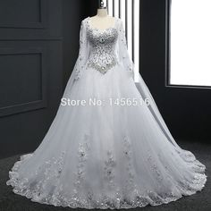 c63ba53a0e Bandage Tube Top Crystal Luxury Wedding Dress
