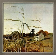 Autumn Cornfield by Andrew Wyeth, October 1, 1950