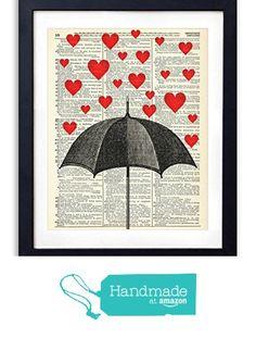Raining Hearts Upcycled Vintage Dictionary Art Print 8x10 from Vintage Book Art Co. http://smile.amazon.com/dp/B01AVKSQTA/ref=hnd_sw_r_pi_dp_R8Caxb0BTHKC9 #handmadeatamazon
