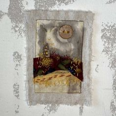 Tea Bag Art, Carol Ann, Mixed Media Collage, Art Pieces, Art Gallery, Projects To Try, Embroidery, Creative, Stitching