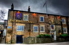 'Bingley Arms' in Bardsey, England, is no ordinary pub. It's the original English pub - officially the oldest in Britain. Have been serving drinks for over 1000 years. The first known brewer was Samson Ellis in 953AD and since then customers have come from all over Leeds and Yorkshire to enjoy a drink at the pub.