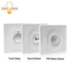 PIR Sensor Human Body induction Switch AC100-250V Wall Type Sound Control Sensor Switch / Touch Delay Switch Lamps #Affiliate