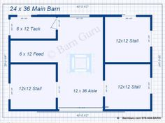 3 stall horse barn plan - Horse Barn Design Ideas