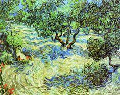 Olive Grove - Bright Blue Sky, 1889 by Vincent van Gogh. Post-Impressionism. landscape
