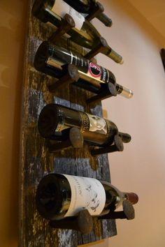 Barn Wood Wine Rack