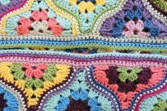 Ravelry: Mystical Lanterns Blanket pattern by Jane Crowfoot Crochet Blanket Patterns, Crochet Motif, Crochet Hooks, Free Crochet, Granny Square Pattern Free, Hexagon Pattern, Manta Crochet, Crochet Projects, Website